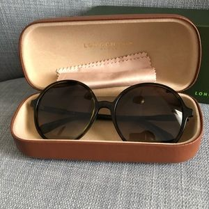 LongChamp round sunglasses.